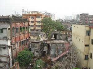 Blick aus meinem Hotelfenster in Kalkutta