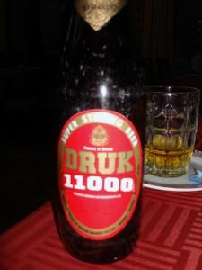 Druk 11000: Starke bhutanische Biersorte mit acht Prozent Alkoholgehalt.